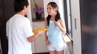 Teen Japanese stayed alone at home and was fucked