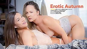 Sexy Lesbian Treesome